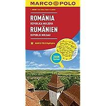 MARCO POLO Länderkarte Rumänien, Republik Moldau 1:800 000: Wegenkaart 1:800 000 (MARCO POLO Länderkarten)