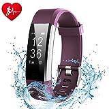 Fitness Tracker, ginsy actividad Tracker reloj con Slim Touch Protector de pulseras, Wearable inteligente pulsera podómetro monitor de sueño para android y IOS
