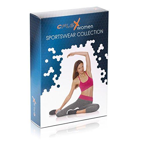 CFLEX Women Sportswear Collection - Damen Stretch Sport Leggings - Sporthose Capri Pant - Für Fitness Laufen - Größen S-XL - Qualität von celodoro Capri-Leggings Virtual Pink