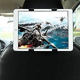 GHB soporte para tablet con adaptador para reposacabezas de coche - Compatible con Ipad, Samsung Galaxy y otras tabletas de 7-10'. Negro