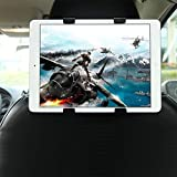 GHB soporte para tablet con adaptador para reposacabezas de coche - Compatible...