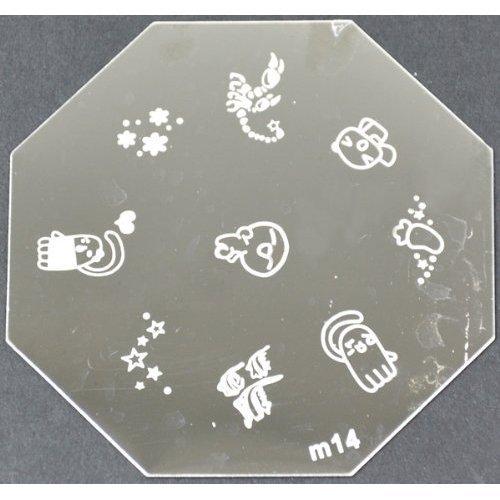 Nail Art emboutissage des tôles - M01 CODE : M14-plaque