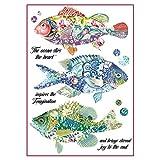 stamperia dfsa4296A4-Papel maché Arroz se envía Fantasía peces, multicolor, 29,7x 21