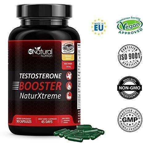 Testosterona Natural-Aumenta Nivel Testosterona-Fenogreco Ginseng Maca Taurina Zinc....