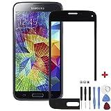 Front-Scheibe Displayglas für Samsung Galaxy S5 Mini Schwarz mit Werkzeug