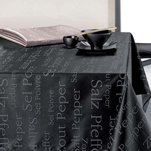Winkler Nappe Enduite SEL & POIVRE Ficelle Coton 250x150cm