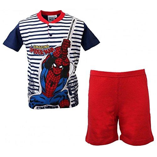 Disney pigiama bimbo spiderman uomo ragno mezza manica 8-9-10 anni puro cotone 16099b - 10 anni