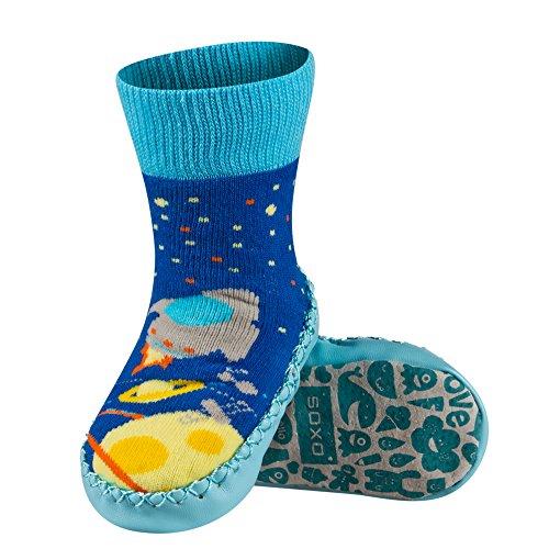 Sevira Kids, Baby Babyschuhe - Lauflernschuhe  mehrfarbig Lapin 1 0-24 Monate, 13 cm Garçon 1-A