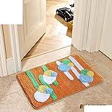 CLLCR Wohnzimmer Mats-Kitchen Badezimmer WC-Fußmatte/Fußmatte / Tür in die Flurtür Matten/Nonlip Mats,O,40X60Cm (16X24Inch)