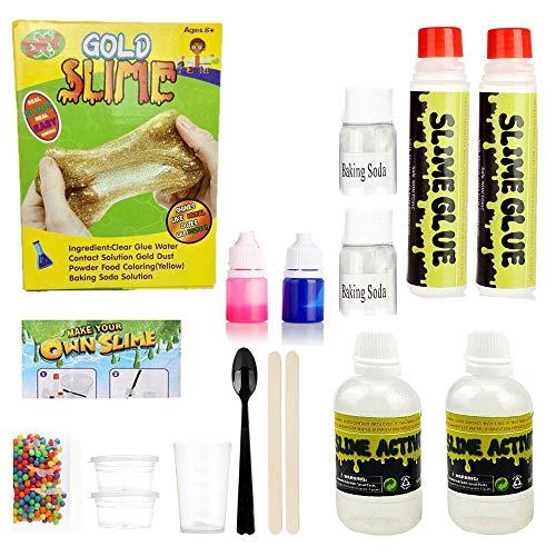 ginal Make Your Own Slime, Magic Fun für Mädchen Jungen Geschenk, große Slime Activator DIY Set Schleim Taschen, gelbe Paket ()