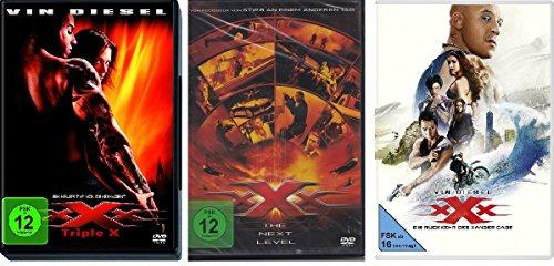 Bild von xXx - Triple X (1+2 The Next Level + 3 Die Rückkehr des Xander Cage) im Set - Deutsche Originalware [3 DVDs]