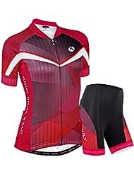 NUCKILY Mujer Elegance diseño Ciclismo conjunto Jersey, corto SS