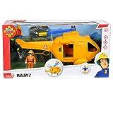 Unbekannt Feuerwehrmann Sam Rettungshubschrauber Wallaby 2 mit 1 Figur • Hubschrauber Feuerwehr Figur Spielzeug