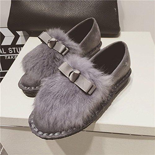 Spritech (TM)-Secondo le donne taglia s, motivo invernale con pelliccia, caldo, con chiusura alla caviglia con finiture in pelliccia, capelli a forma di castoro, Gary, US:7