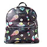 Bioworld Rick And Morty Space Sublimation All-Over Print Ladies Backpack Zaino Casual 41 centimeters 20 Nero (Black)