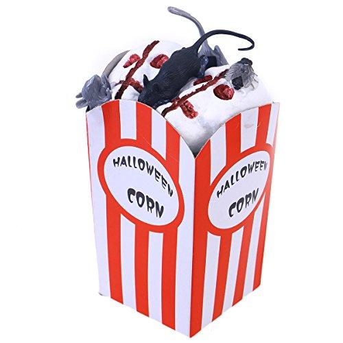 BESTOYARD Popcorn Dekoration lustige Schaum Mais Dekoration Behandeln Oder Trick Spielzeug für Kinder Halloween-Party (Maus) (Halloween-party Oder Trick Behandeln)
