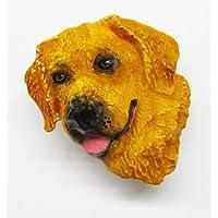 Painted, qualità Premium, colore: marrone chiaro, Golden Retriever, DP090PRAM Refrigerator Magnet