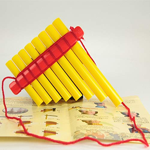 HENGTONGTONGXUN 8 Pipe ABS Plastik Panflötenkinderhandgemachte DIY Panflöte Musik Spielzeug Panflöte Panflöte Musikinstrumente for Kinder & Schüler ( Color : Black final Goods )