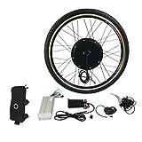 """Dailyinshop 1000W Elektro E Bike Umbausatz 26"""" Vorderradmotor Fahrradnabe 48V (Farbe: Schwarz)"""