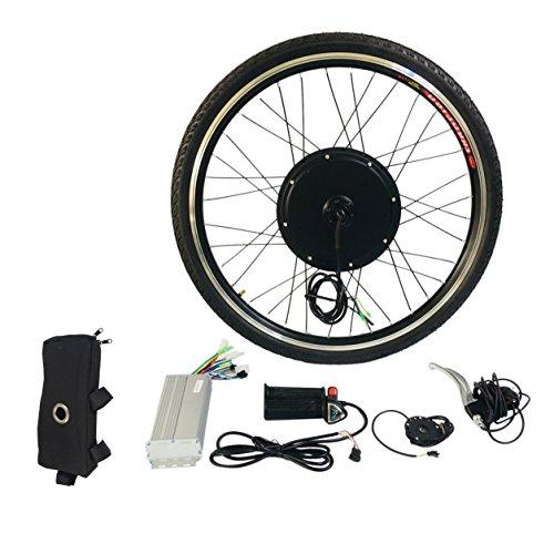 "Preisvergleich Produktbild Dailyinshop 1000W Elektro E Bike Umbausatz 26"" Vorderradmotor Fahrradnabe 48V (Farbe: Schwarz)"