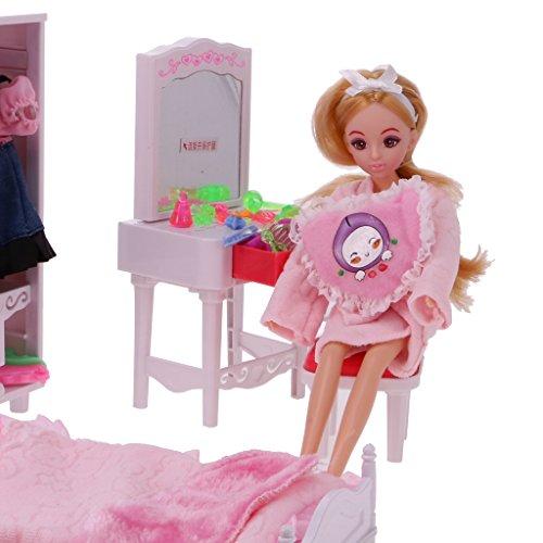 MagiDeal Mobili Set in Plastica Casa delle Bambole Decorazione Bambole Guardaroba Armadio da Sogno - #2