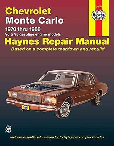[Chevrolet Monte Carlo 1970-88 V6 and V8 Owner's Workshop Manual] (By: Curt Choate) [published: September,