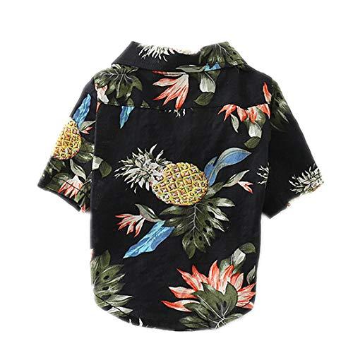 PZSSXDZW Haustierhundekostüm Frühling Mode-Shirt Bequeme Baumwolle Stilvoll und gut aussehend,Black,M -
