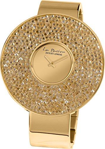 Jacques Lemans Damen Analog Quarz Uhr mit Edelstahl Armband LP-118G