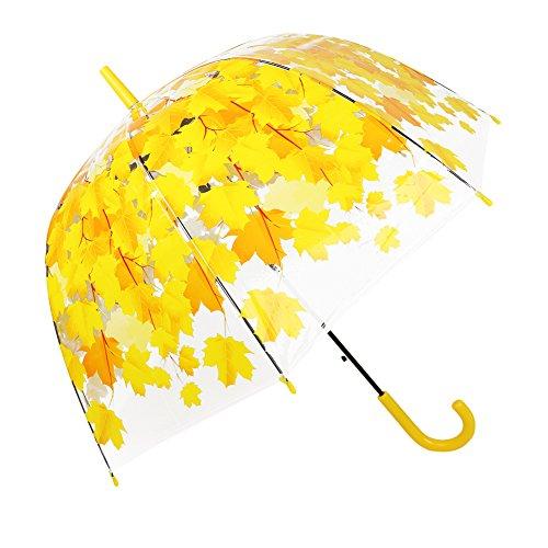 Paraguas transparente automático abierto