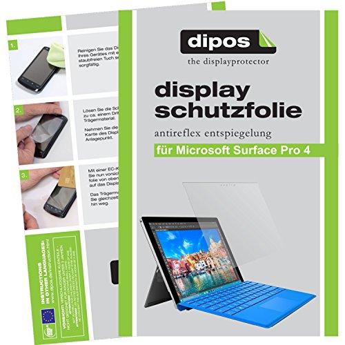 dipos I 2X Schutzfolie matt passend für Microsoft Surface Pro 4 Folie Displayschutzfolie