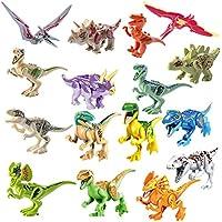 YVSoo Figuras de Dinosaurios 16PCS DIY Juguete de Dinosaurios Set Bloque de Construcción Dinosaurio del Mundo Juguete Juego para Ninos - Peluches y Puzzles precios baratos