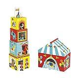 Janod - Multikub 5 Cubi & 5 Personaggi, Circo, J02800