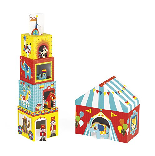Janod 5 Cubos apilabres Circo (238-015)