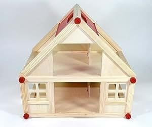 Freda casa delle bambole in legno con 2 piani maniglia di for Post e travi casa piani di trasporto