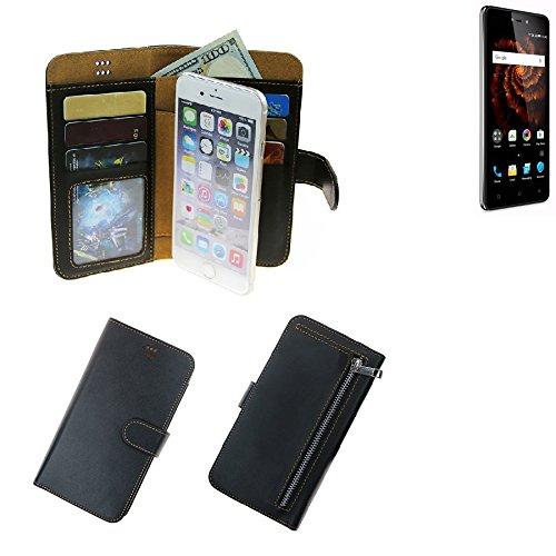 K-S-Trade® Für Allview X3 Soul Lite Schutz Hülle Portemonnaie Case Phone Cover Slim Klapphülle Handytasche Schutzhülle Handyhülle Schwarz Aus Kunstleder (1 STK)