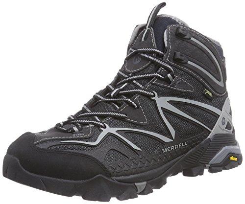 Merrell Capra Mid Sport Gtx, Chaussures de randonnée montantes homme Noir - Schwarz (BLACK/WILD DOVE)