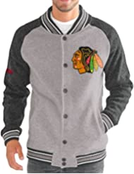 "Chicago Blackhawks G-III NHL ""The Ace"" Men's Premium Sweater Varsity Jacket Veste"