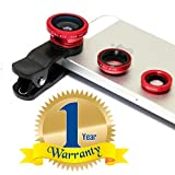 #6: Rextan Universal 3 In 1 Cell Phone Camera Lens Kit -Fish Eye Lens Compatible With IOS and Android Smartphones (One Year Warranty)