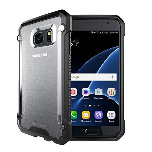 Custodia samsung galaxy s7edge, techgear® samsung galaxy s7edge [fusion armour] premium slim ibrida protezione antiurto