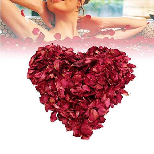 FIVE BEE 200 Gramm natürliche Deluxe getrocknete rote Rosenblätter | Echte Blume Rose Petal für badefuß Bad Hochzeit Confetti DIY Handwerk Accessoires