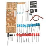 Bluelover Diy Dos Colores Led Luz Intermitente Kit Electrónico Tarjeta De Circuitos