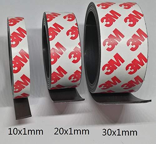 Dünnes Magnetklebeband - 30 mm breit - 1 Meter lang