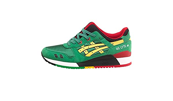 detailed images arriving buy good Mens Asics Tiger Gel Lyte III Carnival Pack Jamaica Trainers ...