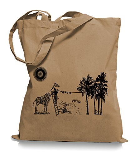 Ma2ca® Wash Day - Jutebeutel Stoffbeutel Tragetasche / Bag WM101 Caramell