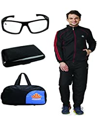 Abloom Track suit Duffle bag & Sunglasses With Card Holder Combo