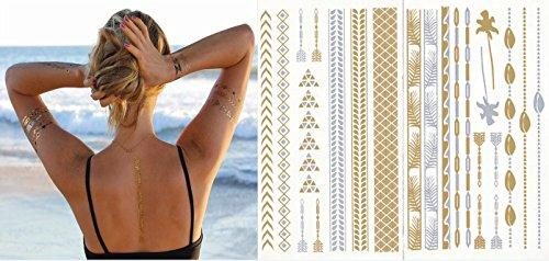 tattoo-tatouage-temporaire-metallique-golden-metallic-gold-stickers-de-tatouage-temporaire-pour-lart