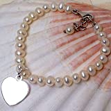 Vitoria Style Childrens Bracelet With Silver Plated Heart Charm