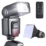 Neewer - Kit di TT560 Flash Speedlite per Canon Nikon Olympus Fujifilm e Qualsiasi Fotocamera Digitale Munita di Slitta Hotshoe Standard, Inclusi: Neewer Flash + Diffusore Softbox + Telecomando Universale Wireless a Infrarossi immagine
