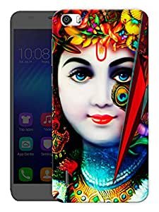 """Humor Gang Krishna Abstract - Hindu God Printed Designer Mobile Back Cover For """"Huawei Honor 6"""" (3D, Matte Finish, Premium Quality, Protective Snap On Slim Hard Phone Case, Multi Color)"""