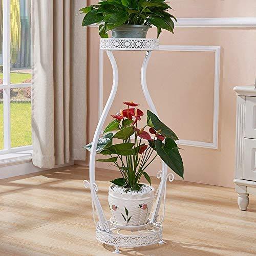 QWER Blumenständer Kunst Aus Eisen Doppelschicht Regal Reine Hand Durchbrochene Musterablage Geeignet Für Balkon Wohnzimmer Usw. -